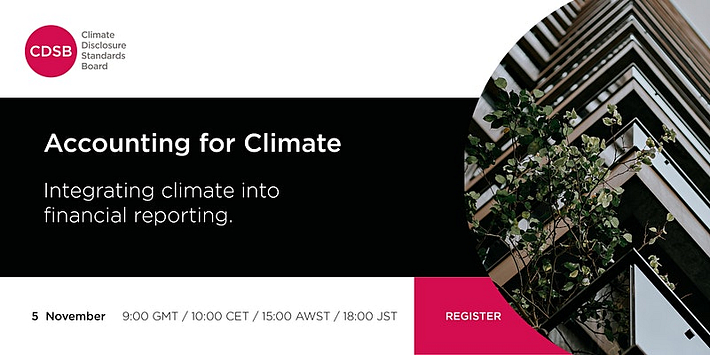 Webinar: Accounting for climate