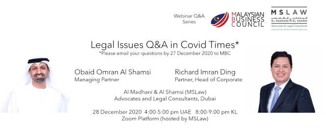Legal Issues Q&A in Covid Times